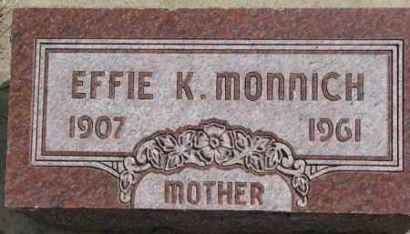 MONNICH, EFFIE K. - Dixon County, Nebraska | EFFIE K. MONNICH - Nebraska Gravestone Photos