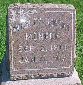 MONROE, WESLEY ROBERT - Dixon County, Nebraska | WESLEY ROBERT MONROE - Nebraska Gravestone Photos
