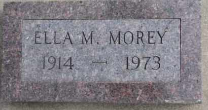 MOREY, ELLA M. - Dixon County, Nebraska | ELLA M. MOREY - Nebraska Gravestone Photos