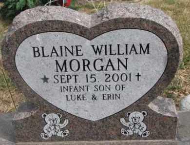 MORGAN, BLAINE WILLIAM - Dixon County, Nebraska | BLAINE WILLIAM MORGAN - Nebraska Gravestone Photos