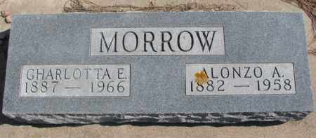 MORROW, ALONZO A. - Dixon County, Nebraska | ALONZO A. MORROW - Nebraska Gravestone Photos