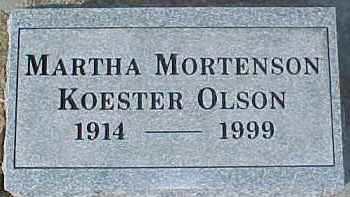 MORTENSON, MARTHA - Dixon County, Nebraska   MARTHA MORTENSON - Nebraska Gravestone Photos