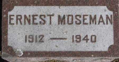 MOSEMAN, ERNEST - Dixon County, Nebraska | ERNEST MOSEMAN - Nebraska Gravestone Photos