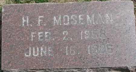 MOSEMAN, H.F. - Dixon County, Nebraska   H.F. MOSEMAN - Nebraska Gravestone Photos
