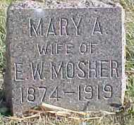 MOSHER, MARY A. - Dixon County, Nebraska | MARY A. MOSHER - Nebraska Gravestone Photos