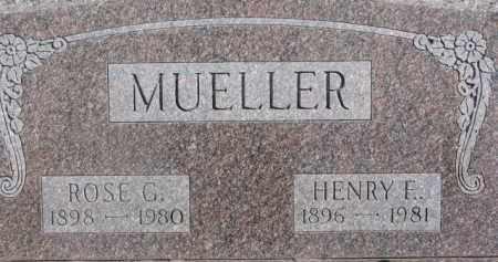 MUELLER, HENRY E. - Dixon County, Nebraska | HENRY E. MUELLER - Nebraska Gravestone Photos