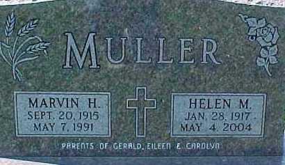 MULLER, MARVIN H. - Dixon County, Nebraska | MARVIN H. MULLER - Nebraska Gravestone Photos