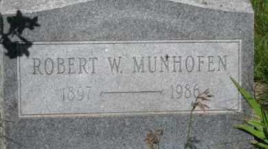 MUNFOFEN, ROBERT W. - Dixon County, Nebraska | ROBERT W. MUNFOFEN - Nebraska Gravestone Photos