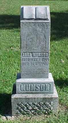 MUNSON, ANNA - Dixon County, Nebraska | ANNA MUNSON - Nebraska Gravestone Photos