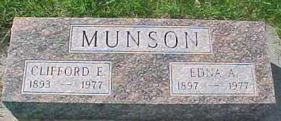 MUNSON, CLIFFORD E. - Dixon County, Nebraska | CLIFFORD E. MUNSON - Nebraska Gravestone Photos