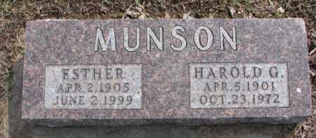 MUNSON, ESTHER - Dixon County, Nebraska | ESTHER MUNSON - Nebraska Gravestone Photos