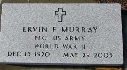 MURRAY, ERVIN F. - Dixon County, Nebraska | ERVIN F. MURRAY - Nebraska Gravestone Photos