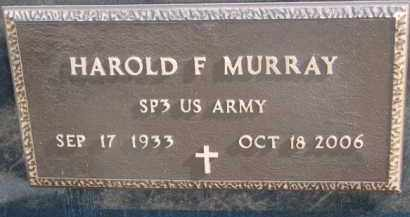 MURRAY, HAROLD F. (MILITARY MARKER) - Dixon County, Nebraska | HAROLD F. (MILITARY MARKER) MURRAY - Nebraska Gravestone Photos
