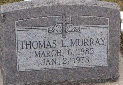 MURRAY, THOMAS L. - Dixon County, Nebraska   THOMAS L. MURRAY - Nebraska Gravestone Photos