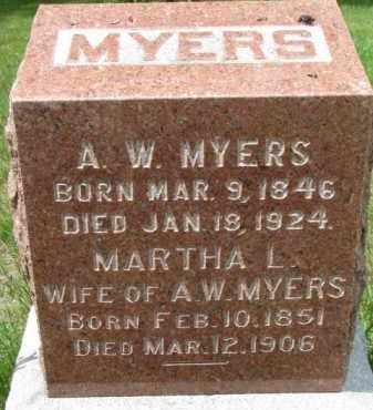 MYERS, A.W. - Dixon County, Nebraska | A.W. MYERS - Nebraska Gravestone Photos