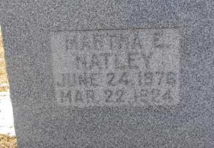 NATLEY, MARTHA E. - Dixon County, Nebraska | MARTHA E. NATLEY - Nebraska Gravestone Photos