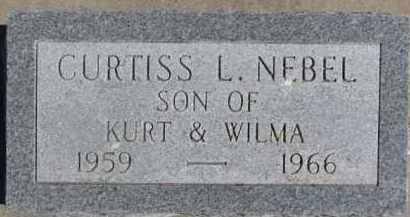 NEBEL, CURTISS L. - Dixon County, Nebraska | CURTISS L. NEBEL - Nebraska Gravestone Photos