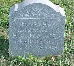 NEFF, MARTHA - Dixon County, Nebraska | MARTHA NEFF - Nebraska Gravestone Photos