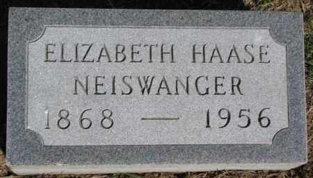 NEISWANGER, ELIZABETH - Dixon County, Nebraska | ELIZABETH NEISWANGER - Nebraska Gravestone Photos