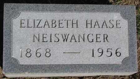 HAASE NEISWANGER, ELIZABETH - Dixon County, Nebraska | ELIZABETH HAASE NEISWANGER - Nebraska Gravestone Photos