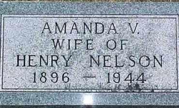 NELSON, AMANDA V. - Dixon County, Nebraska | AMANDA V. NELSON - Nebraska Gravestone Photos
