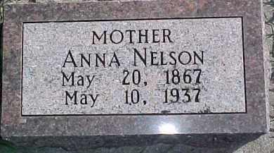 NELSON, ANNA - Dixon County, Nebraska | ANNA NELSON - Nebraska Gravestone Photos