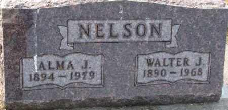 NELSON, ALMA J. - Dixon County, Nebraska | ALMA J. NELSON - Nebraska Gravestone Photos