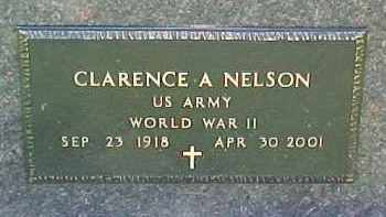 NELSON, CLARENCE A (WW II MARKER) - Dixon County, Nebraska   CLARENCE A (WW II MARKER) NELSON - Nebraska Gravestone Photos