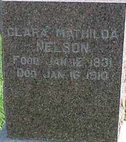 NELSON, CLARA MATHILDA - Dixon County, Nebraska | CLARA MATHILDA NELSON - Nebraska Gravestone Photos