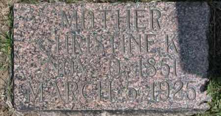 NELSON, CHRISTINE K. - Dixon County, Nebraska | CHRISTINE K. NELSON - Nebraska Gravestone Photos