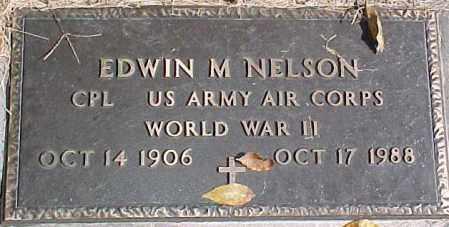 NELSON, EDWIN M (WW II MARKER) - Dixon County, Nebraska | EDWIN M (WW II MARKER) NELSON - Nebraska Gravestone Photos