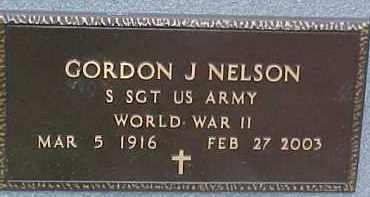 NELSON, GORDON J. (WW II MARKER) - Dixon County, Nebraska   GORDON J. (WW II MARKER) NELSON - Nebraska Gravestone Photos