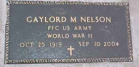 NELSON, GAYLORD (WW II MARKER) - Dixon County, Nebraska   GAYLORD (WW II MARKER) NELSON - Nebraska Gravestone Photos