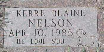 NELSON, KERRE BLAINE - Dixon County, Nebraska   KERRE BLAINE NELSON - Nebraska Gravestone Photos