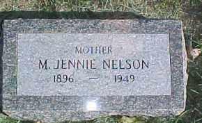 NELSON, M. JENNIE - Dixon County, Nebraska   M. JENNIE NELSON - Nebraska Gravestone Photos