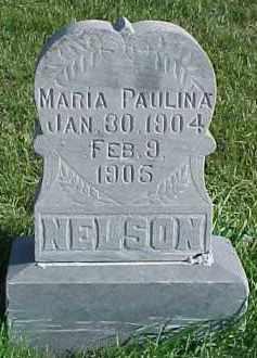 NELSON, MARIA PAULINA - Dixon County, Nebraska | MARIA PAULINA NELSON - Nebraska Gravestone Photos