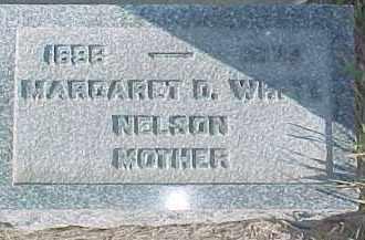 WHITE NELSON, MARGARET D. - Dixon County, Nebraska | MARGARET D. WHITE NELSON - Nebraska Gravestone Photos