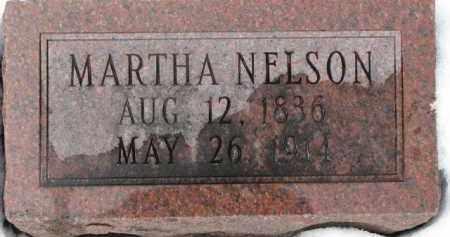 NELSON, MARTHA - Dixon County, Nebraska | MARTHA NELSON - Nebraska Gravestone Photos