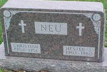 NEU, HESTER L. - Dixon County, Nebraska | HESTER L. NEU - Nebraska Gravestone Photos
