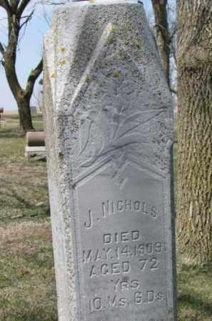 NICHOLS, JEREMIAH J. - Dixon County, Nebraska | JEREMIAH J. NICHOLS - Nebraska Gravestone Photos