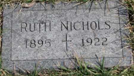 NICHOLS, RUTH - Dixon County, Nebraska | RUTH NICHOLS - Nebraska Gravestone Photos