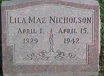 NICHOLSON, LILA MAE - Dixon County, Nebraska | LILA MAE NICHOLSON - Nebraska Gravestone Photos