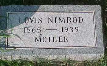 NIMROD, LOVIS - Dixon County, Nebraska | LOVIS NIMROD - Nebraska Gravestone Photos