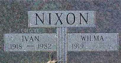 NIXON, WILMA ELLA - Dixon County, Nebraska   WILMA ELLA NIXON - Nebraska Gravestone Photos