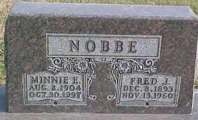 NOBBE, MINNIE E. - Dixon County, Nebraska | MINNIE E. NOBBE - Nebraska Gravestone Photos