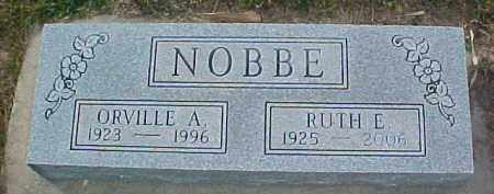 NOBBE, ORVILLE A. - Dixon County, Nebraska | ORVILLE A. NOBBE - Nebraska Gravestone Photos
