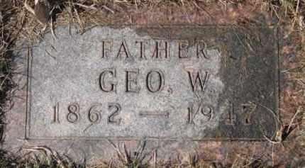 NOE, GEORGE W. - Dixon County, Nebraska | GEORGE W. NOE - Nebraska Gravestone Photos