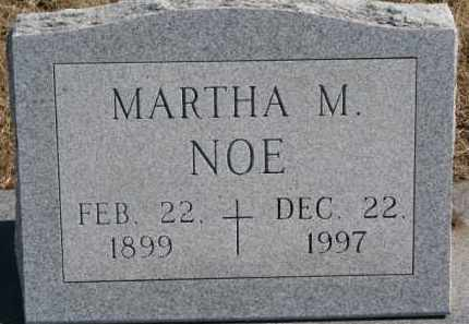 NOE, MARTHA M. - Dixon County, Nebraska | MARTHA M. NOE - Nebraska Gravestone Photos