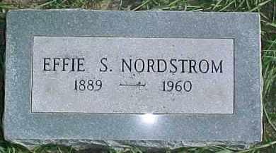 NORDSTROM, EFFIE S. - Dixon County, Nebraska | EFFIE S. NORDSTROM - Nebraska Gravestone Photos