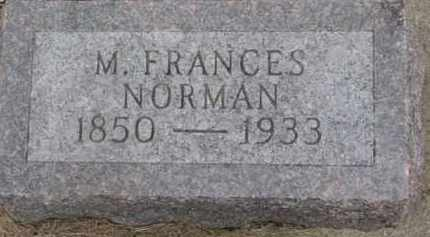 NORMAN, M. FRANCES - Dixon County, Nebraska | M. FRANCES NORMAN - Nebraska Gravestone Photos